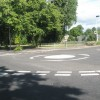 Mini roundabout at the western end of Walpole Road