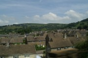 Rooftop level view of Hathersage, from the railway