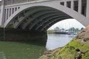 Looking under Bursledon road bridge