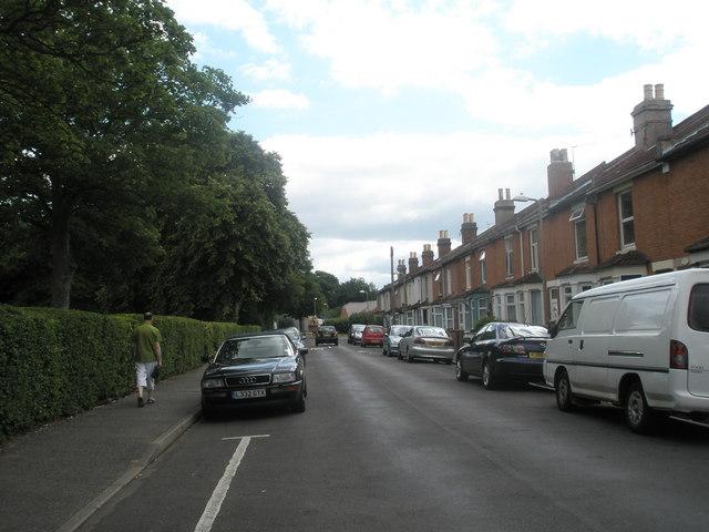 Looking eastwards along Norman Road