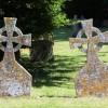 Gravestones in Lawshall churchyard