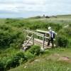 Footbridge on track to broch