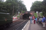 Bridge over the railway at  Bishops Lydeard station