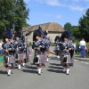 Pipe band arriving