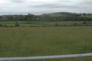 View across farmland towards Llwydiarth-Esgob
