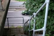 Steps to mystery balcony, A14 bridge
