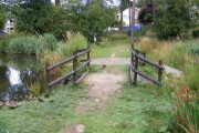 Bridge between the Southdown Ponds
