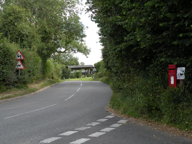 The road to Hargrave village from The Wash
