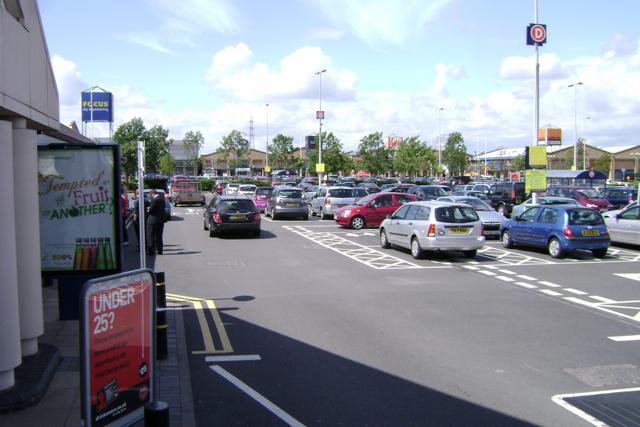 The Shires retail park, car parks