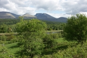 Caledonian Canal and Ben Nevis from near Muirshearlich on the B8004