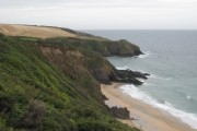 The eastern end of Porthbeor beach