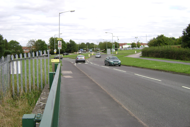 The eastern end of Prospect Road, Leamington Spa