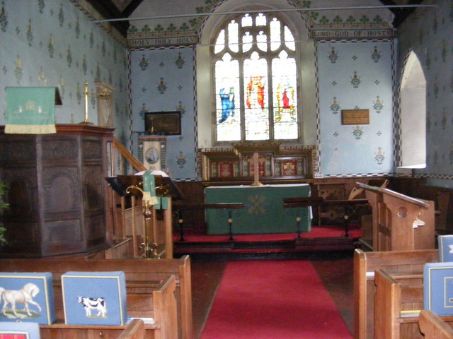 The altar of St Mary Magdalene C of E, Friston
