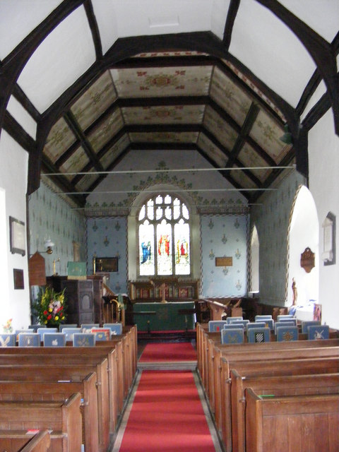 The inside of St Mary Magdalene C of E, Friston