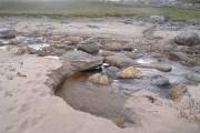 Stream on Clabhach Beach