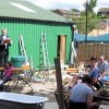 Selling outdoor goods at the regular Tring Market auction