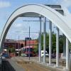 Midland Metro line entering Wolverhampton terminus