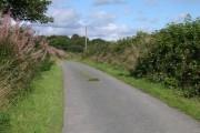 Road past Rhyderwen Farm