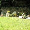 Graves in the churchyard at St John the Evangelist, Milton