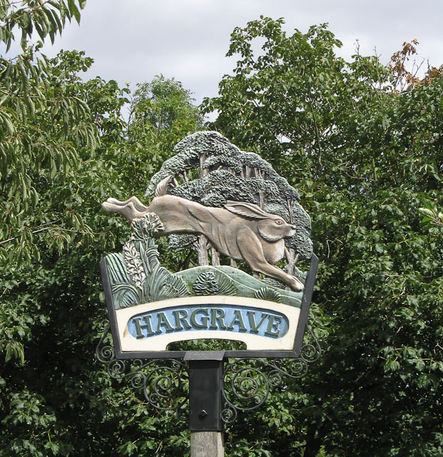 Hargrave village sign