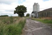 Passing farm buildings near Brinsley Gin