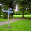 Signpost in Normanton Park in Derby
