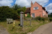 Village pump and cottage, Kersey