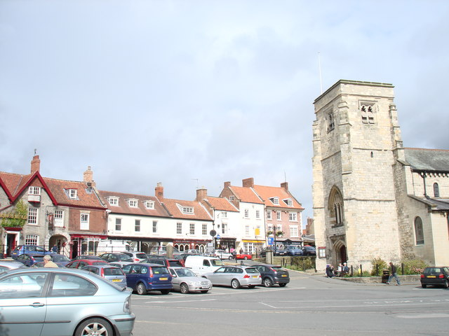 Malton town centre, St Michael's parish church