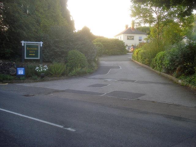 Entrance to the Badgers Sett Inn
