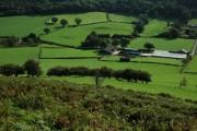 Farm below Cam Long Down