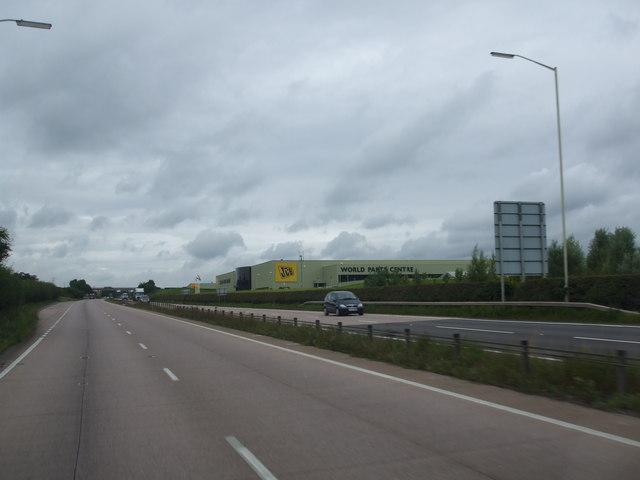 JCB World Parts Centre alongside the A50