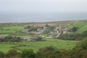Zennor village from Trewey Hill