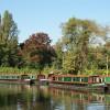 Narrowboats at Guildford, Surrey