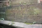 Kirklee Road Bridge memorial stone
