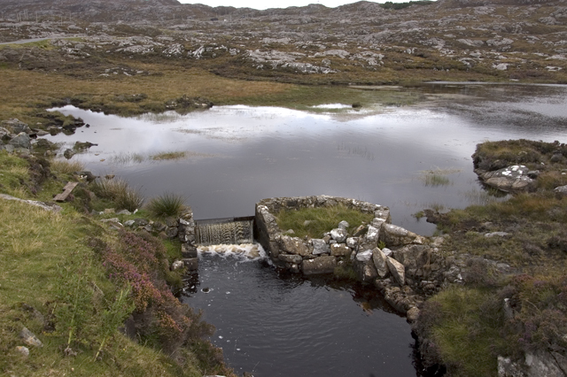 Outfall of Loch Airigh Iain Oig
