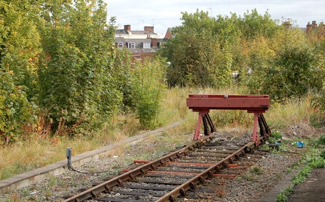 Buffer stop at Leamington Spa railway station