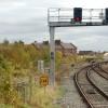 Gantry signal at Leamington Spa railway station