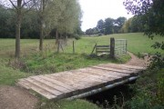 Bridge and stile near Pott's Wood