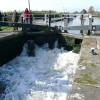 Filling the lock at Swarkestone, Derbyshire