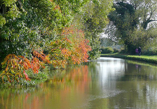 Trent and Mersey Canal east of Swarkestone, Derbyshire