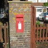 Wall-mounted postbox, Station Road, Tring