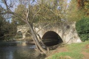Bridge over the mill stream at Wolvercote