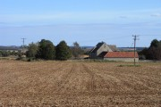 Lower Barn and arable farmland, Chedworth