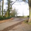 Lane junction near Burrows Farm