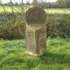 The Langley & Brailsford parish boundary marker - detail