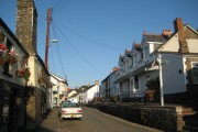 Road through the village of Hartland