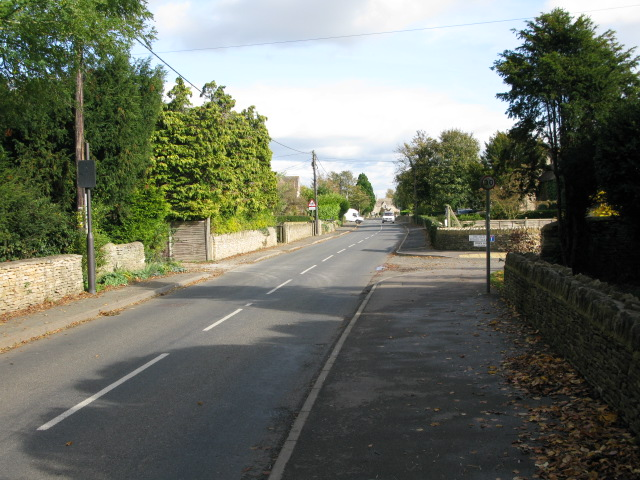 View along Charlham Way, Down Ampney