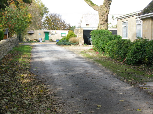Road to the village shop, Down Ampney