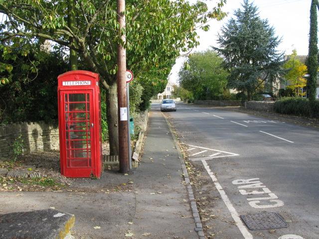 Telephone box on Charlham Way, Down Ampney