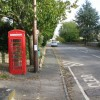 Telephone box on Charlham Way, Down Ampney